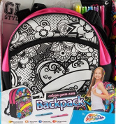 Colour Your Own Girls School Backpack Bag - Heart Design