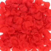 Coceca 1000 PCS Silk Red Rose Petals, for Wedding Party ,Wedding Ceremony ,Wedding Table Confetti Decorations, Valentine's Day decoration