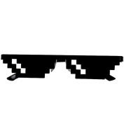 Tonwalk Thug Life Glasses 8 Bit Pixel Deal With IT Sunglasses Unisex Sunglasses Novelty Toy