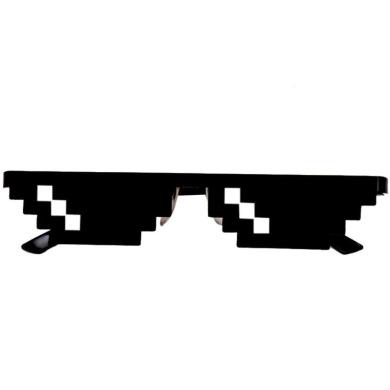 Tonwalk Thug Life Glasses 8 Bit Pixel Deal With IT Sunglasses Unisex Sunglasses Novelty Toy (A)