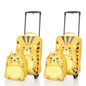 Childrens Luggage Kids Carry on Suitcase Travel Luggage Trolley and Backpack Set