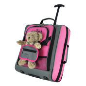 Sets of MiniMAX Childrens/Kids Luggage Carry On Trolley Suitcase with Backpack and Pouch for your Favourite Doll/Action Figure/Bear