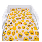Ready Steady Bed® Emoji Girl Design Nursery Cot Duvet Cover Set