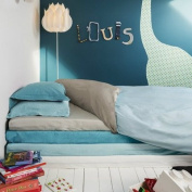 Louis the Dry Duvet Cover Plain Blue 120 x 150 cm grey
