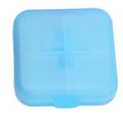 Portable 4 Slots Health Pill Case Organiser Medicine Box Storage Case Container Travel Pill Box Colour Random