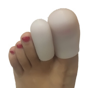 Gel Toe Caps,5 Pairs/Pack for Toes, Finger Cover,Toe Protectors,Toe Sleeves,for Corns Remover, Callus Cushion, Bunion Treatmen