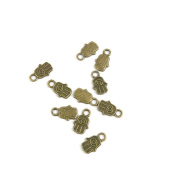 Price per 120 Pieces Jewellery Making Supply Charms Findings Filigrees Y4OT6E Hamesh Hamsa Hand of Fatima Antique Bronze Findings Beading Craft Supplies Bulk Lots