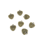 Price per 20 Pieces Jewellery Making Supply Charms Findings Filigrees B2TX9M Love Heart Antique Bronze Findings Beading Craft Supplies Bulk Lots