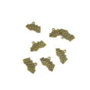 Price per 20 Pieces Jewellery Making Supply Charms Findings Filigrees T1PZ4D Poker Straight Flush Antique Bronze Findings Beading Craft Supplies Bulk Lots