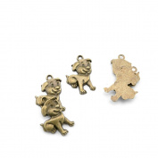 Price per 230 Pieces Jewellery Making Supply Charms Findings Filigrees K3EL9K Ha Lying dog Antique Bronze Findings Beading Craft Supplies Bulk Lots