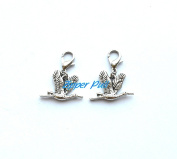 Bird Zipper Charm, Bird Zipper Pull,zip accessory,Zipper Pull, Perfect for Necklaces, Bracelets , keychain and earrings