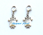 Baby clothes Zipper Pull - Clip-On Charm,Zipper Pull, Perfect for Necklaces, Bracelets , keychain and earrings