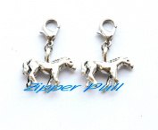 Own Charm ,- Antique Silver horses Pendant Connectors Jewellery Accessories , DIY Supplies, Jewellery Making,Zipper Pull, Perfect for Necklaces, Bracelets , keychain and earrings