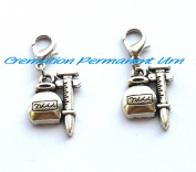 Cup Clip On Charm,Zipper Pull, Perfect for Necklaces, Bracelets , keychain and earrings