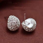 Misright Mode Doux Attractive Crystal Silver Full / Boucles d'oreilles en or Stud