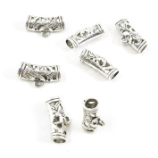 10 Pieces Antique Silver Tone Jewellery Making Supply Charms Filigrees Arts Crafts Beading Findings Crafting Q6AV7J Tube Bead Bails Cord Ends