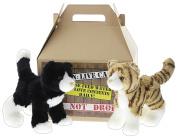 Bundle of 2 Douglas Plush 20cm Cuddly Cats Plus Carrier - Snippy & Sadie