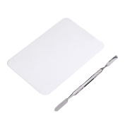 Professional Stainless Steel Makeup Palette Board Spatula Foundation Mixing Tool