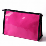KAFEI Cosmetic storage package large capacity glossy mirror travel female,rose red