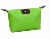 KAFEI Cosmetic handle bag candy colour dumplings portable Incorporated cute small,green
