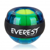 EVEREST FITNESS energy ball to train the hand and arm muscles with rubber grip and casing made of unbreakable plastic   2 years satisfaction guarantee   hand trainer, gyroscope ball, strengthening ball, grip, gyro ball, exerciser, forearm trainer, reha ..