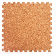 Cork Top Interlocking Foam Mats - Perfect for Floor Protection, Garage, Exercise, Yoga, Playroom. Eva foam
