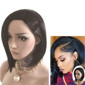 Chic Shoulder Length Bob Women Wigs (Black) 006BK