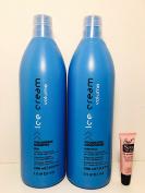 Inebrya Ice Cream Volumizing Shampoo & Conditioner Pera for Fine and Lifeless Hair 33.8 Oz -- Free Starry Lip Plumping Gloss 10ml