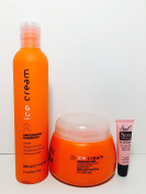 """Inebrya Ice Cream Smoothing Shampoo Toffee 11.83 Oz and Smoothing Mask Toffee 16.9 Oz """"Free Starry Lipgloss 10 Ml"""""""