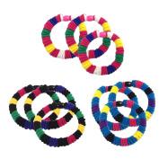 9Pcs Mini Rainbow Scrunchie Elastics Basic Ponytail Holders