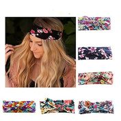 Lady Up 6 Pieces Headwraps Hair Band Bows Women Headbands for Fashion Or Sport