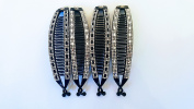 4pcs Jumbo Banana Comb Clip Thick Hair Riser Claw Interlocking Jaw Extra
