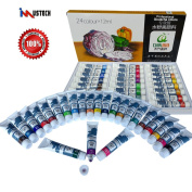 iMustech Gouache Paint,24 Gouache Colours Artist Paint Set ,Art Paints With Palette, Craft Paint Set, Watercolours Painting Kit for Artists, Excellent Painting Supplies for Canvas, Glass, Model & Clay