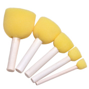 20 PCS Round Sponge Brush Set Painting Drawing Stippler Tools for Kids Graffiti DIY Painting 5 Different Sizes