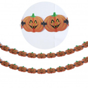 Euone Halloween Party Pull Flower Decoration Pumpkin Spider Sticker Ribbons