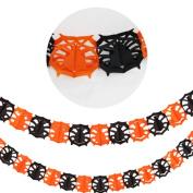 Livoty Halloween Party Pull Flower Decoration Pumpkin Spider Sticker Ribbons