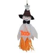 Coerni 2PCs Hanging Ghost Halloween Decoration Festival Party Supplies Kids Funny Joking Toys . White)