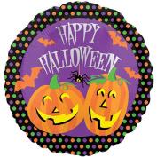 Anagram Happy Halloween Jack-O-Lantern 46cm Foil Balloon, Purple