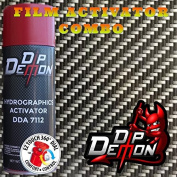 Combo Kit Hex Carbon Fibre Hydrographic Water Transfer Film Activator Combo Kit Hydro Dipping Dip Demon