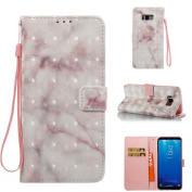 Galaxy S8 Plus Case, Everun [Card Slot][Wrist Strap] Luxury PU Leather Magnetic Wallet Case Cover for Samsung Galaxy S8 Plus