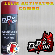 Combo Kit Brushed Aluminium Metal Hydrographic Water Transfer Film Activator Combo Kit Hydro Dipping Dip Demon