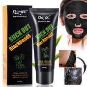 Black Mask,Peel Off Blackhead Mask,Natural Charcoal Mask,Blackhead Remover Mask, Eliminates Blackheads and Reduces Acne and Appearances Of Pores, Deep Cleansing Purifying Peel Acne Mask 1pc