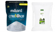 Milliard Epsom Salt 2.3kg Magnesium Sulphate USP Grade BULK bag + Milliard 100% Pure Food Grade Citric Acid -2.3kg. bag