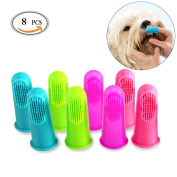 OR Pure Pets Dog Toothbrush,Cat Finger Toothbrushes,Dental Hygiene Brushes, Resilient and Soft PVC Bristles,for Small Dogs,Cats,Most Pets,Handy Fingertip Design