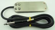 Heavy Duty Tattoo Foot Switch Stainless Steel Tattoo Foot Pedal Black Wire for Tattoo Machines Tattoo Supplies
