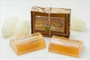 Saibua Handmade Thai Herbal Lemongrass & Honey Scrub Luffa Soap Bar 100 g by jawnoy
