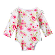 For 3M-18M, UMFun Infant Baby Long Sleeve Flowers Romper Jumpsuit Outfits Clothes