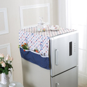 Saumota Home Decor Dust Protective Refrigerator Dust Cover Washing Machine Dust Cover-Blue star