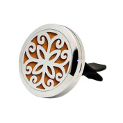 Car Air Auto Vent Freshener Essential Oil Diffuser Stainless Locket Decor by SANNYSIS