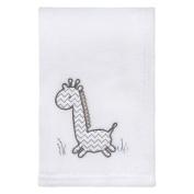 Trend Lab Giraffe Safari Plush Baby Blanket, Grey/White